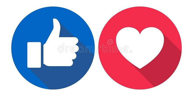 vector illustration facebook love like icons colorful white background facebook love like icons colorful 116944351