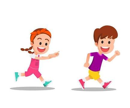 donna corre dietro a uomo